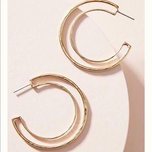 Anthropologie Martha hoop earring